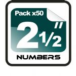"2.5"" Race Numbers - 50 pack"
